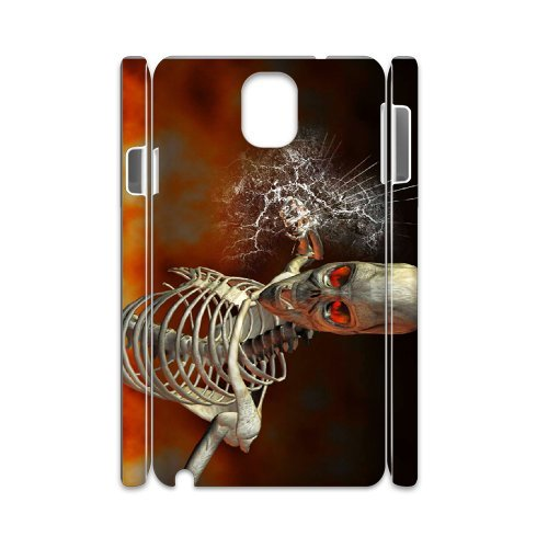 Samsung Galaxy Note 3 N9000 Skeleton 3D Art Print Design Phone Back Case Personalized Hard Shell Protection Aq041512