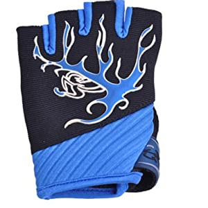 Winter Mens Outdoor Cycling Riding Fingerless Gloves half-finger blue gloves by MAYSU