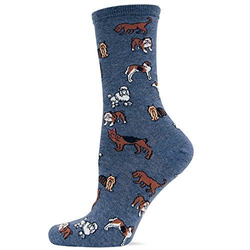 Hot Sox Originals New Classic Dogs Trouser, Denim, Sock Size 9-11