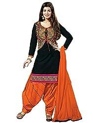khodiyar black cotton salwar suit