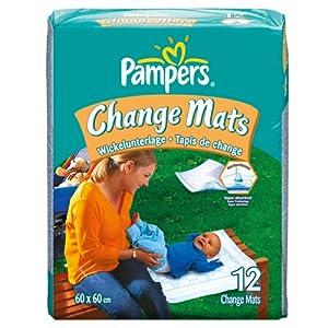 Pampers Change Mats - 5 x Packs of 12 (60 Change Mats)