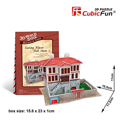 CubicFun 3D Puzzle World Style-Series ''Turkiye Flavor - Folk House 2''
