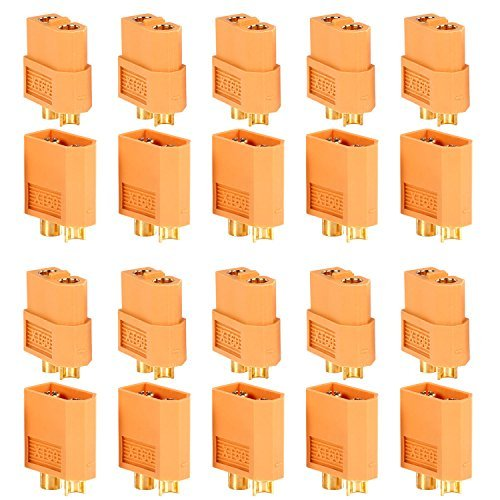 Neewer® 10 Pairs Of Xt60 Xt-60 Male Female Bullet Connectors Plugs For Rc Lipo Battery