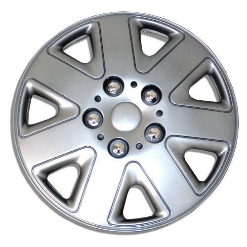 TuningPros WSC-026S15 Hubcaps Wheel Skin Cover 15-Inches Silver Set of 4 Size: 15-Inches, Model: , Outdoor&Repair Store (15 Inch Hubcaps Set Of 4 compare prices)
