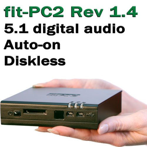 """CompuLab fit-PC2 Diskless (Rev 1.4), Atom Z530 1.6 GHz, RAM 1 GB, bay for 2.5"""" SATA HDD"""