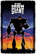Poster - Iron Giant - Woven Throw Blanket Tapestry