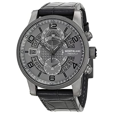 Montblanc Timewalker TMW Titanium Flyback Mens Watch 107338