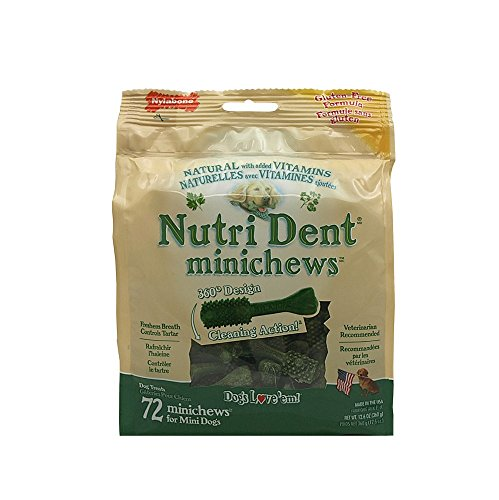 Nylabone Nutri Dent Original Minichews for Mini Dogs, 72-Count Pouch (Nylabone Omega 3 compare prices)