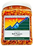 Mother Earth Products Freeze Dried Red Bell Peppers, Quart Jar