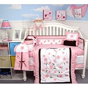 13 Piece Dragonflies Garden Baby Crib Nursery Bedding Set