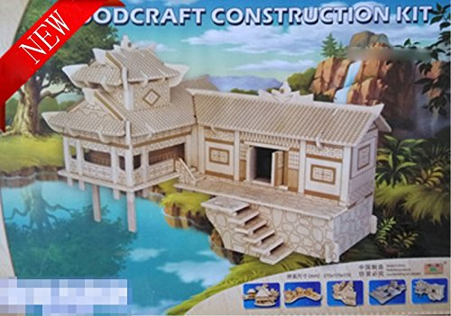 Thinkmax 3D Three-Dimensional Puzzle Wooden House Model,Children'S Educational Toys( Western Hunan House£© front-266567