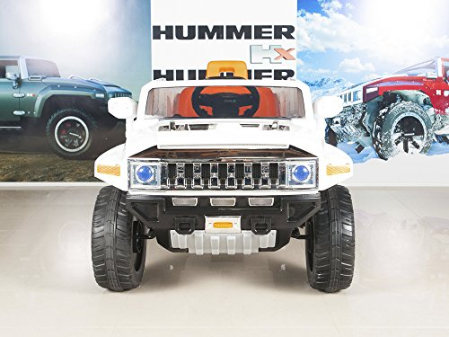 hummer hx kids ride on truckcar 12v powered wheels with rc remote control white