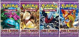 4 (Four) Packs of Pokemon Trading Card Game Black & White Dark Explorers Booster (4 Pack Lot)