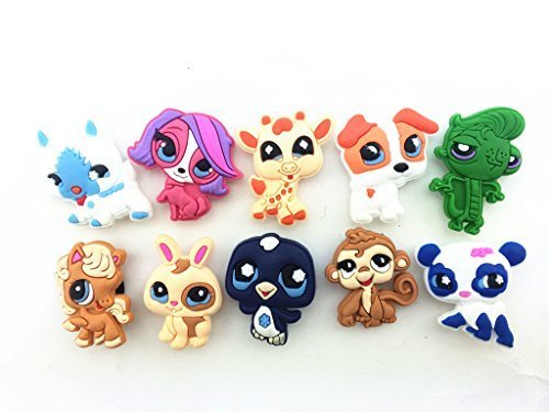 Best Price 10pcs Littlest Pet Shop Shoe Charms for Croc Shoes & Wristband Bracelet