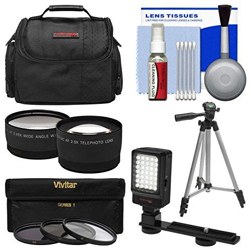Essentials Bundle For Panasonic Hc-V750K & Hc-W850K Camcorder With Case + Led Light + 3 Uv/Cpl/Nd8 Filters + Tele/Wide Lenses Kit + Cleaning Kit front-273122