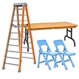 ULTIMATE Ladder, Table & Chairs Orange Playset for Wrestling Action Figures