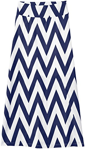 Amy Byer Big Girls' Chevron Stripe Maxi Skirt,