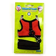 "Ware Nylon Walk-N-Vest Small Pet Harness and Leash, Small ""Color May Vary"""