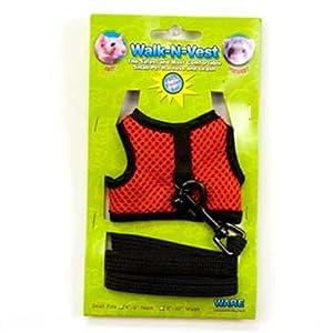 Ware Nylon Walk-N-Vest Small Pet Harness and Leash, Small