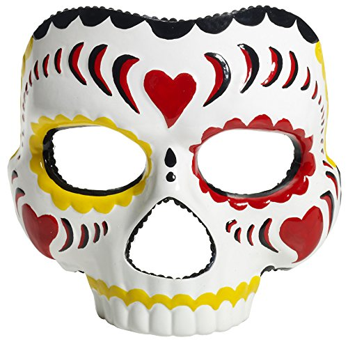 Forum Novelties Women's Day Of The Dead Female Mask, Multi, One Size - 1