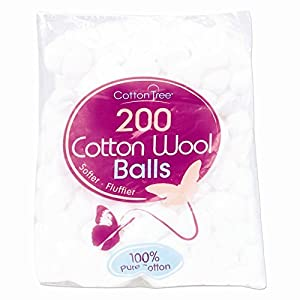 400 Cotton Wool Balls - 2 Packs of 200 by Cotton Tree