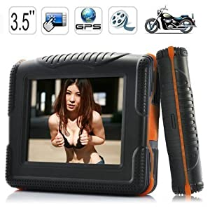 """Motorcycle&Car GPS Navigator ,Waterproof, 3.5"""" touch screen,Fully Loaded USA Maps With Two batteries &4GB SD Map Card"""