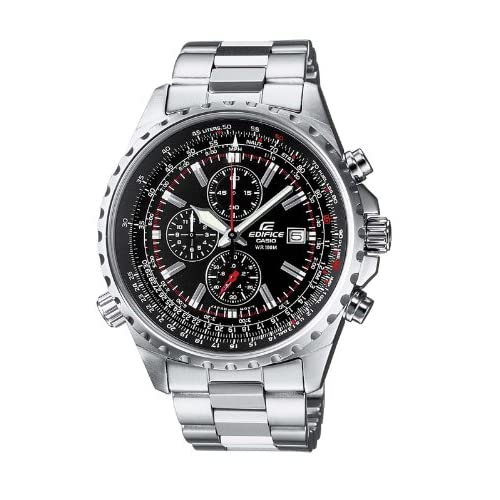 Casio Edifice EF-527D-1AVEF Men's Analog Quartz Watch with Chronograph, Steel Bracelet and Date Indicator