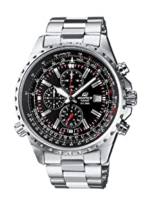 Casio Edifice EF-527D-1AVEF Men's Analog Quartz Watch Chronograph Steel Bracelet and Date Indicator