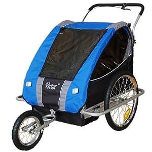 Jogger Remorque à Vélo 2 en 1, 1 à 2 enfants -BLEU 31308-03