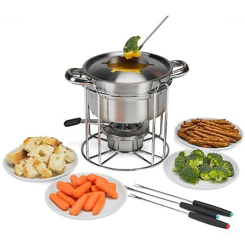 12-pc. Stainless Steel Fondue Set