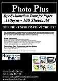 Dye Sublimation Heat Transfer Paper - 100 Sheets A4