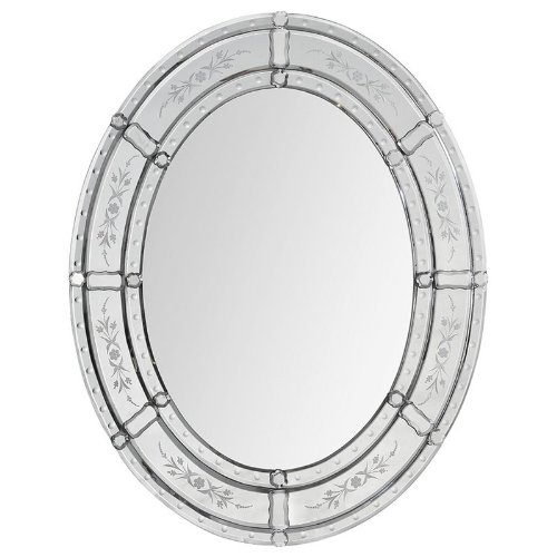 Ren-Wil Mt1261 Lucia Wall Mount Mirror By Kelly Stevenson And Jonathan Wilner, 30 By 24-Inch back-560315