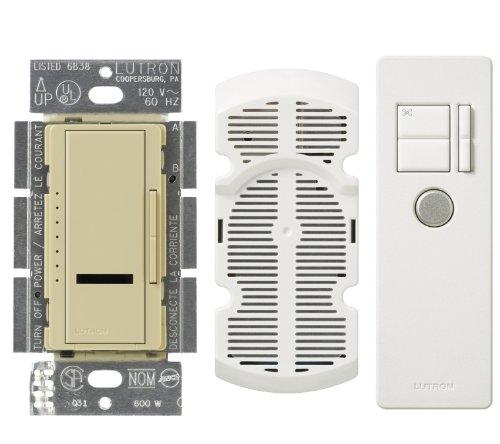 Lutron Mir-Fq4Fmt-Iv Maestro Ir Multi Location 7-Speed Fan Control Kit, Ivory