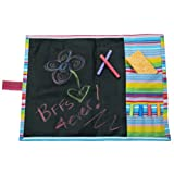 Doodlebugz Crayola Chalkboard Placemat, Pink Stripe (182P)