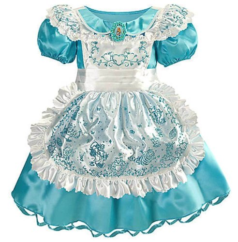Disney Store Alice In Wonderland Halloween Costume Dress Size L Large [ 10 ]