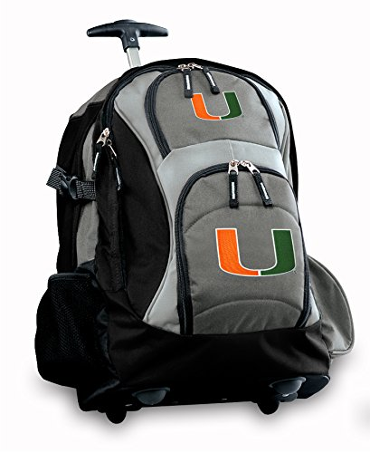 University Of Miami Rolling Backpack Deluxe Gray Um Logo Best Backpacks Bags Wi