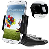 """Car Mount, Caseology [CD Slot Insert] Universal Smartphone CD Car Mount Cradle Holder [One Touch] GPS Holder CD Car Mount (expands 2.16"""" to 3.9"""") for Samsung Galaxy S5S4/S3/S2 Note 4/3/2 Apple iPhone 6/6S/5/5S/4/4S HTC One M8/M7 Google Nexus 6/5/4 LG G3/G2"""