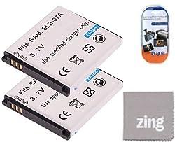 Pack of 2 SLB-07A Batteries for Samsung PL150 ST45 ST50 ST550 TL220 Digital Camera + More!!