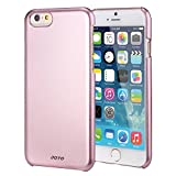 """JOTO iPhone 6 4.7 Case - Slim Thin Fit Hard Cover Case Exclusive for Apple iPhone 6 4.7"""" (2014), Premium Metal effect coating hard case for iPhone 6 (Pink)"""