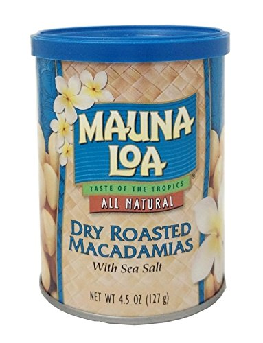 Mauna Loa Macadamias, Dry Roasted with Sea Salt, 4.5 Ounce Container