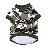 Fashion Army Green Camouflage Dog Puppy Clothes Camo Sweatshirt Pet T Shirt Apparel M