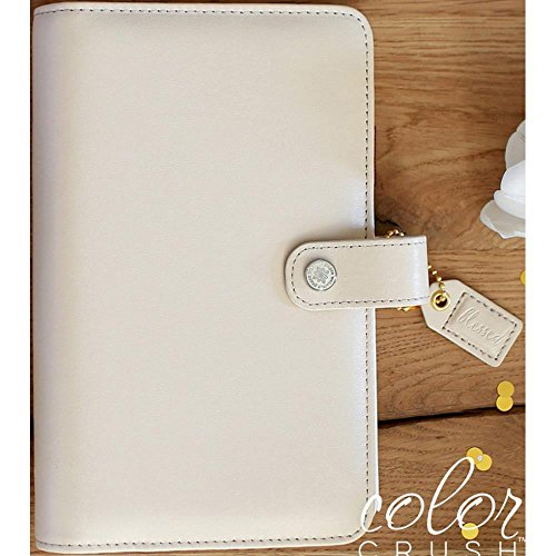Color Crush A2 Faux Leather Personal Planner 6-Ring Binder-Natural (Natural Binder compare prices)