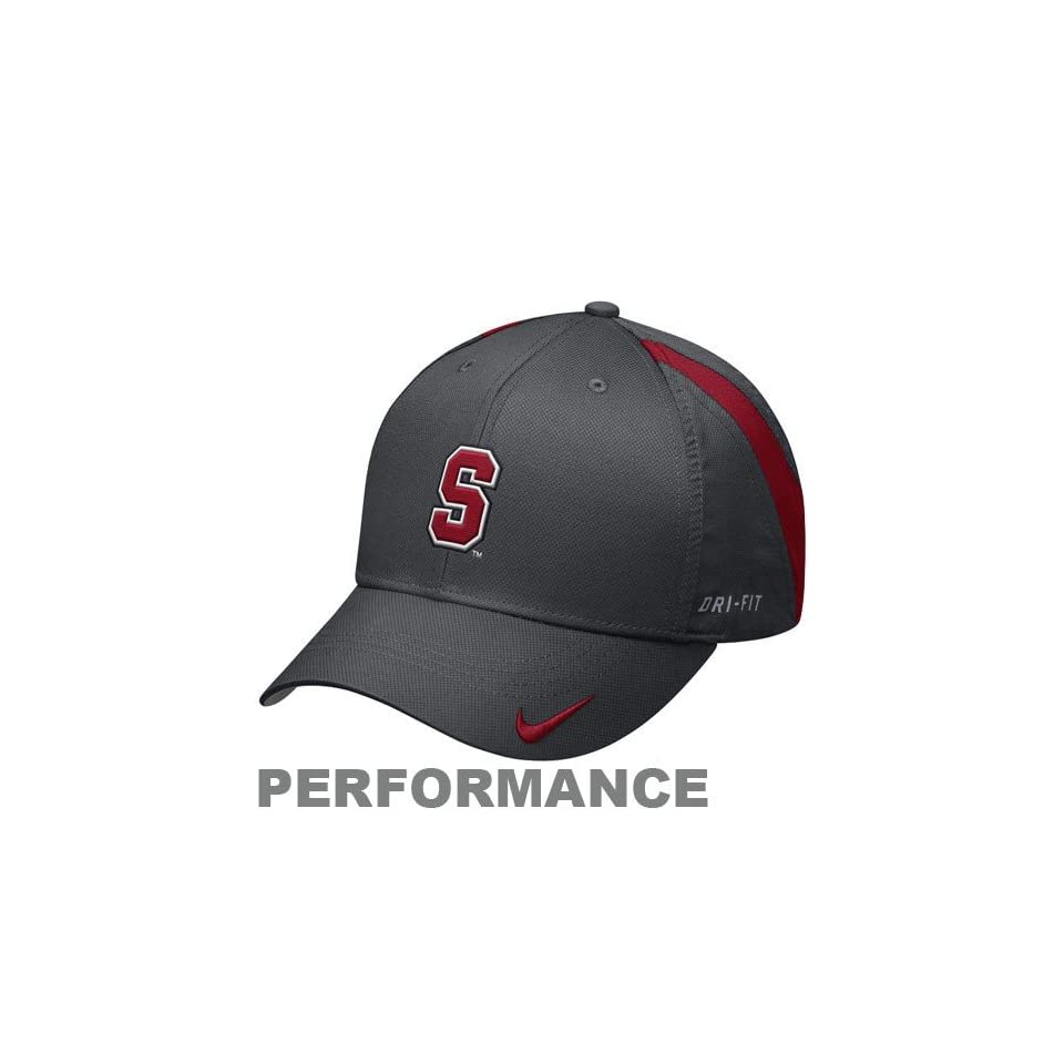 52cf8da4df2 Nike Stanford Cardinal Charcoal Training Camp Legacy 91 Performance  Adjustable Hat