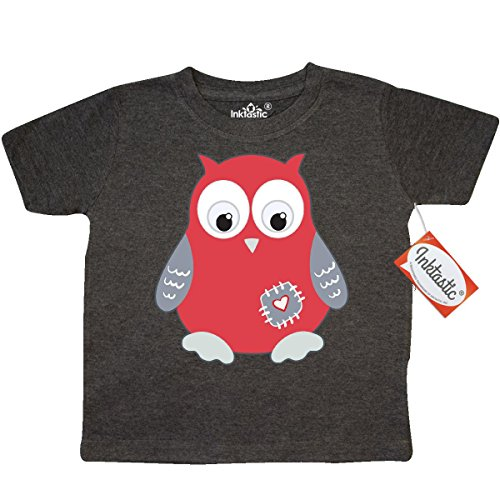 Inktastic Little Boys' Red Owl Toddler T-Shirt 3T Retro Heather Smoke