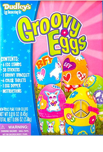 Dudley's Easter Egg Decorating Kit Groovy Eggs !