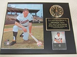 Harmon Killebrew Minnesota Twins Collectors Clock Plaque w 8x10 Photo and Card by J & C Baseball Clubhouse