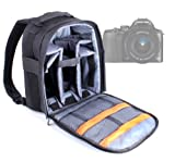DURAGADGET High Quality Water Resistant Nylon Rucksack with Adjustable Padded Interior for Nikon 1J 2 - Sony NEX-7 - Sony NEX7KB.CEH Digital Compact System Camera with 18-55 Lens Kit (24.3MP - 10x Digital Zoom) 3.0 inch LCD Screen & Sony NEX-6 NEX6 Interchangeable Lens 16.1MP 16-50mm Zoom Lens - Black