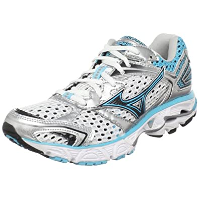 Mizuno Women's Wave Inspire 7 Running Shoe,White/Blue Atoll-blue Depths,12 M US