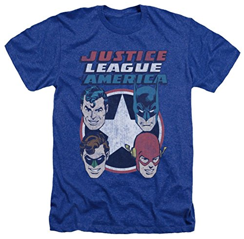 Justice League 4 Stars Heather T-Shirt