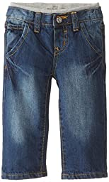 Lee Baby Boys\' Ams Knit WB Jean, Retro Blue, 18 Months